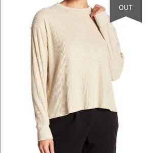 PST Project Social T waffle knit thermal sweater